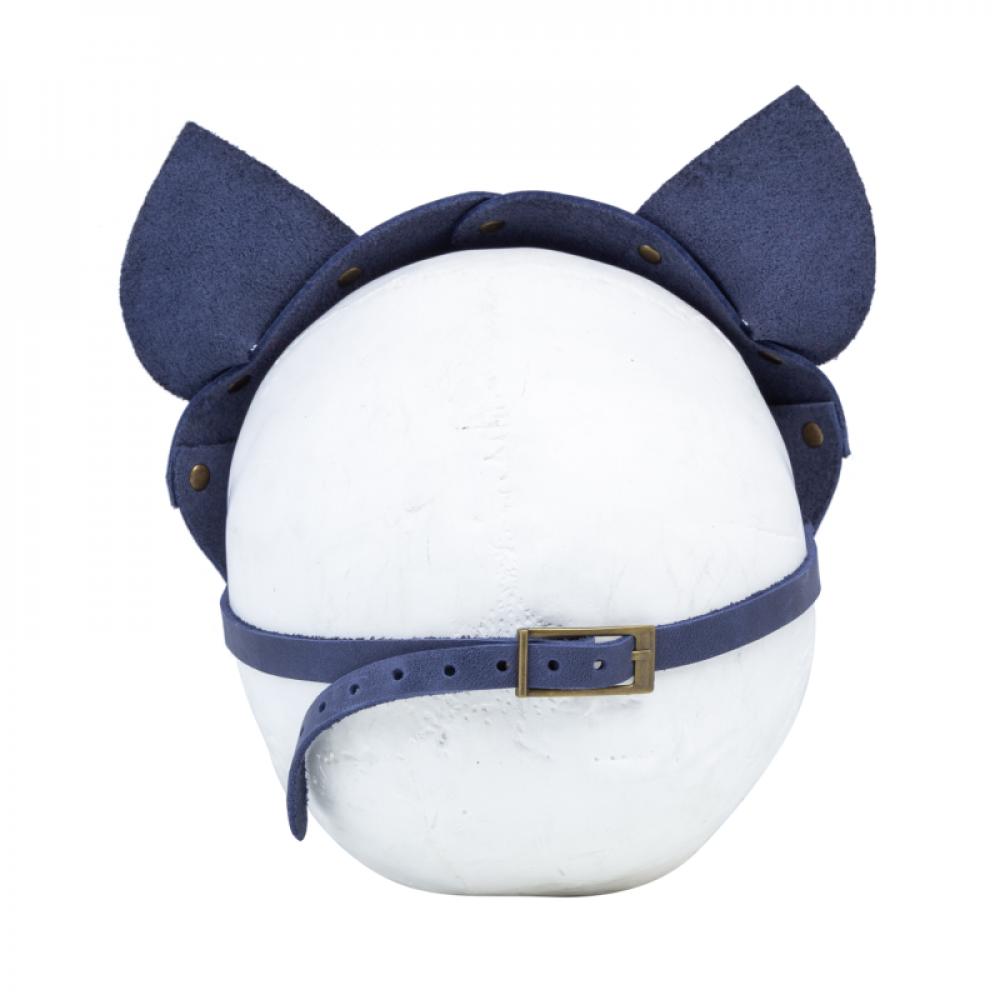 Маска для БДСМ - Маска кошки LOVECRAFT голубая 3