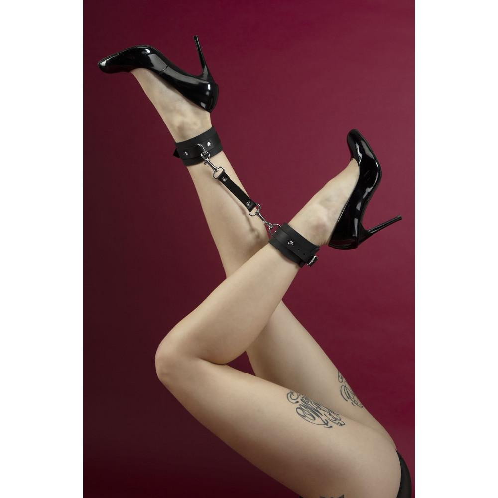 БДСМ наручники - Поножи Feral Fillings - Ankle Restraints черные