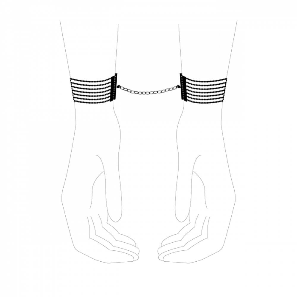 БДСМ наручники - Браслеты-наручники Magnifique Серебристый металл, Bijoux Indiscrets 5