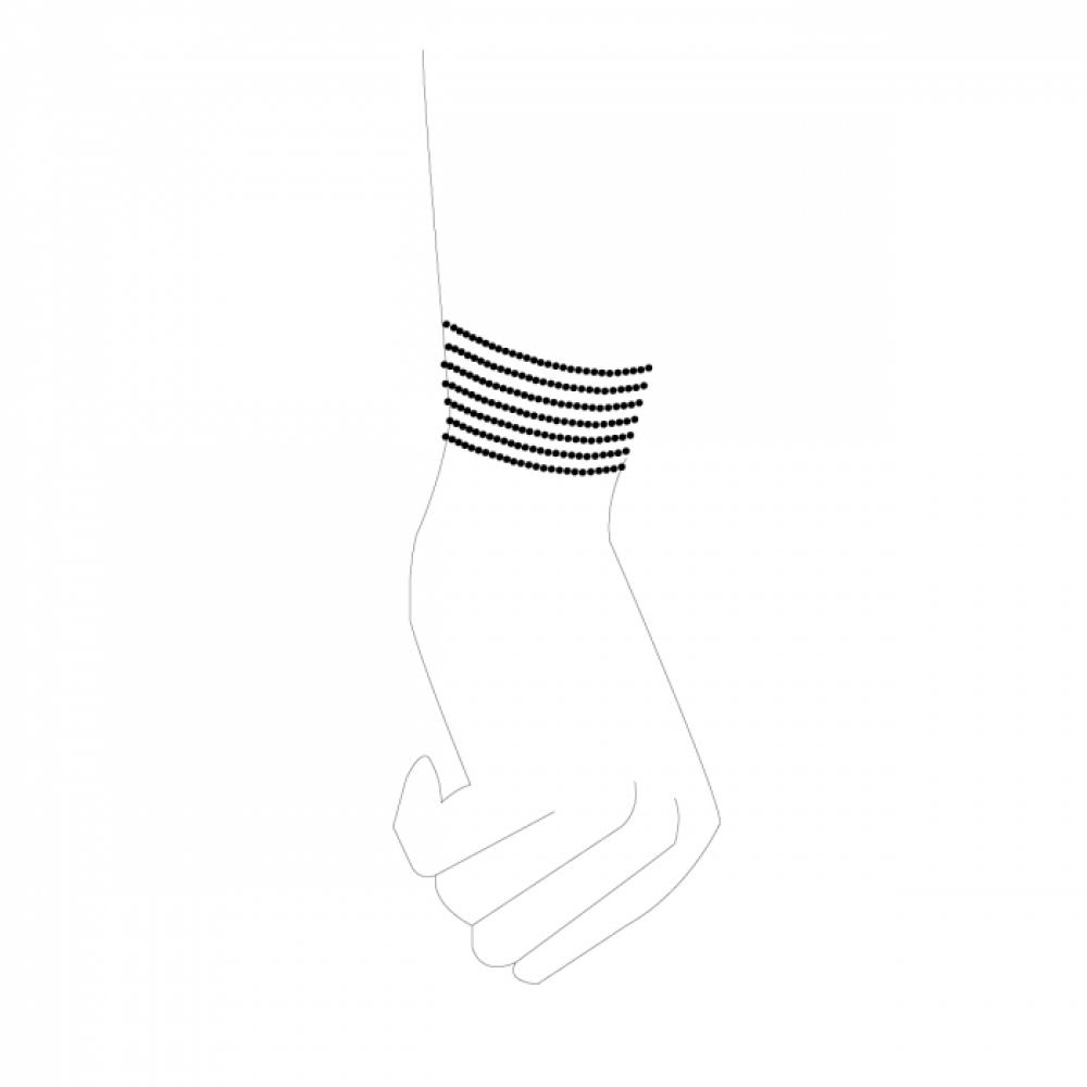 БДСМ наручники - Браслеты-наручники Magnifique Серебристый металл, Bijoux Indiscrets 4