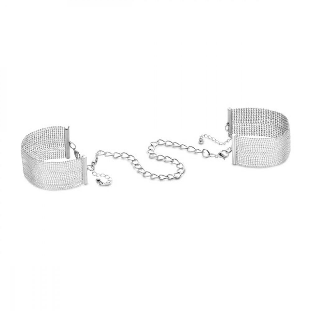 БДСМ наручники - Браслеты-наручники Magnifique Серебристый металл, Bijoux Indiscrets 3