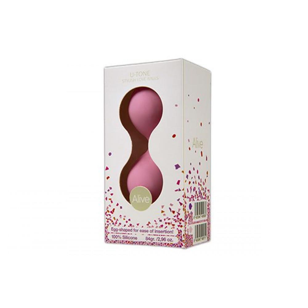 Вагинальные шарики - Вагинальные шарики Alive U-Tone Balls Pink 1