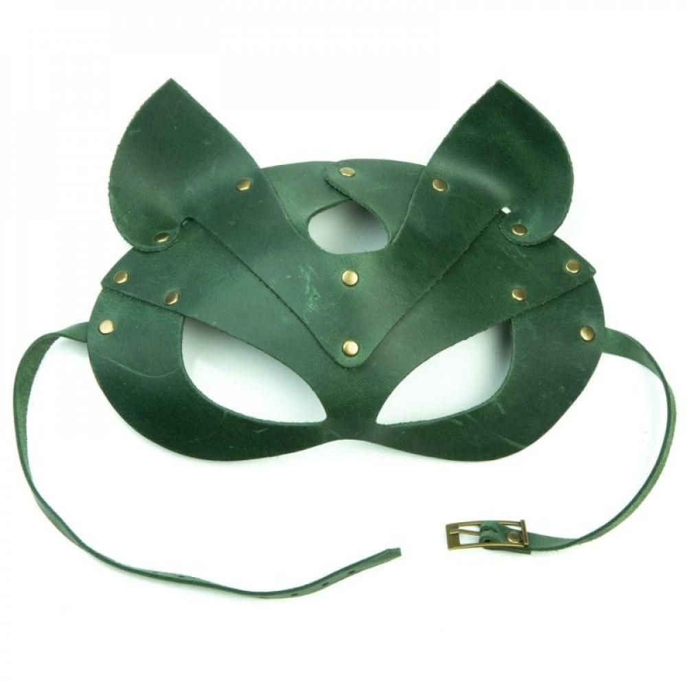 Маска для БДСМ - Маска кошки LOVECRAFT зеленая