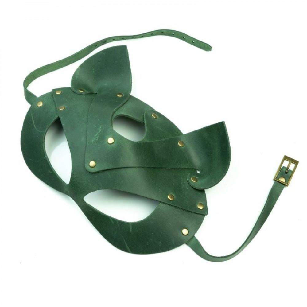 Маска для БДСМ - Маска кошки LOVECRAFT зеленая 1