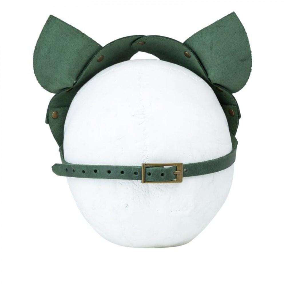 Маска для БДСМ - Маска кошки LOVECRAFT зеленая 3