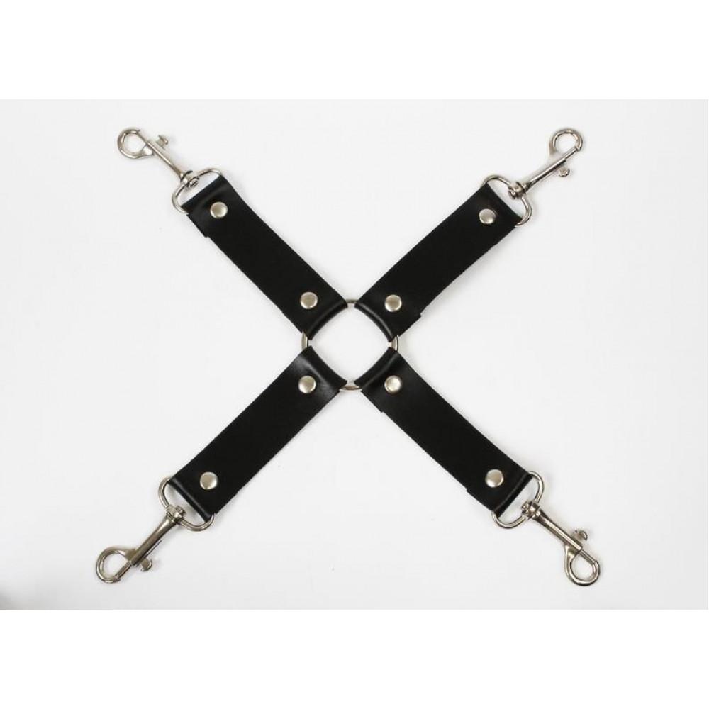 БДСМ наручники - Крестовина Feral Fillings - 4 Way Connector черная 1