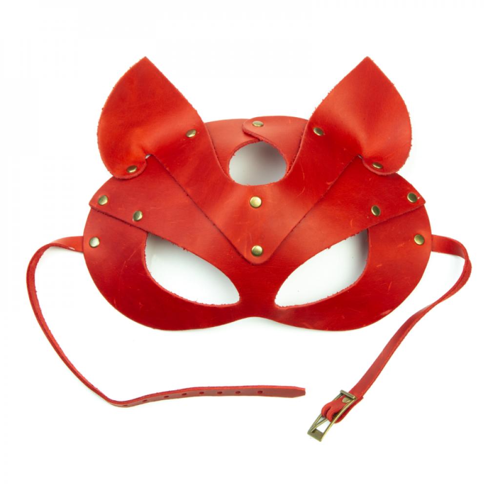 Маска для БДСМ - Маска кошки LOVECRAFT красная