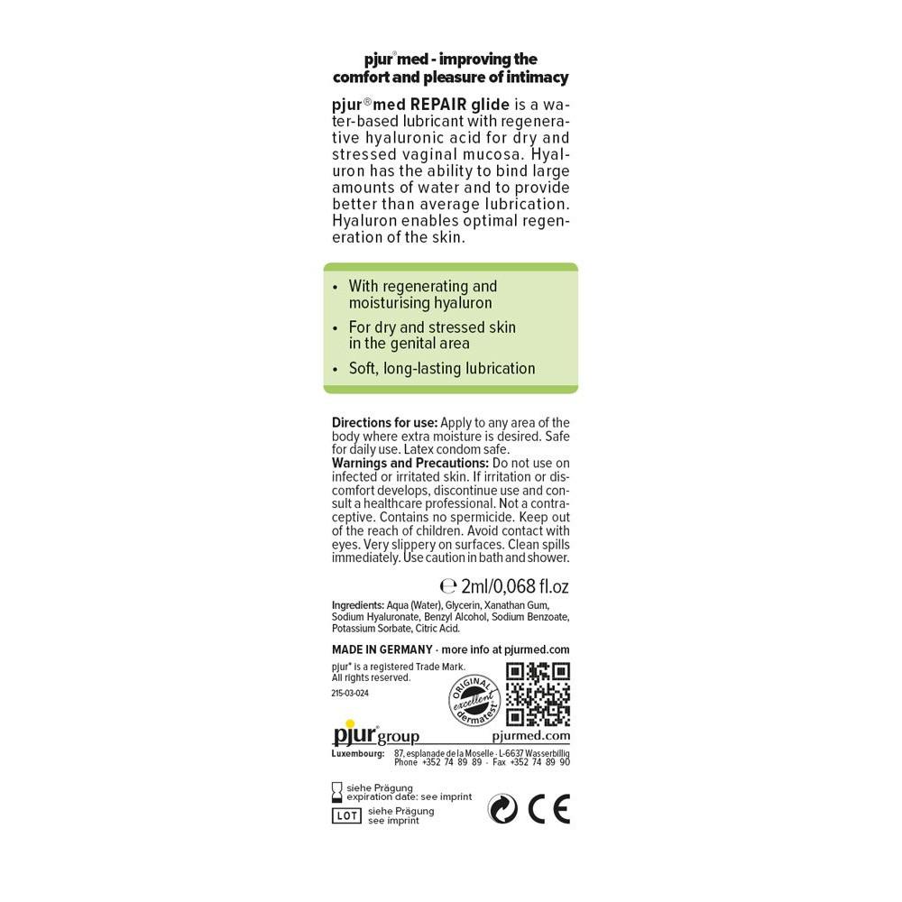 Смазка на водной основе - Пробник pjur MED Repair glide 2 ml 1