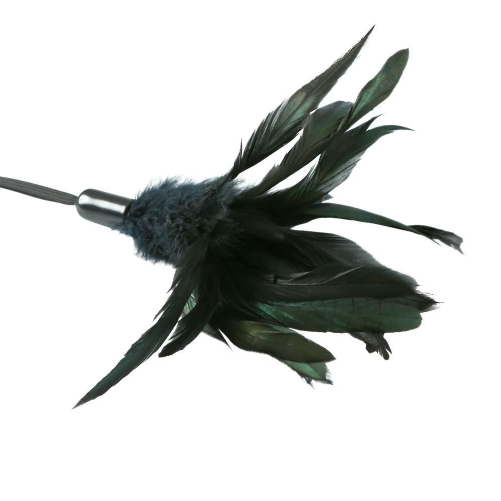 БДСМ плети, шлепалки, метелочки - Метелочка Sportsheets - PLEASURE FEATHER BLACK 1