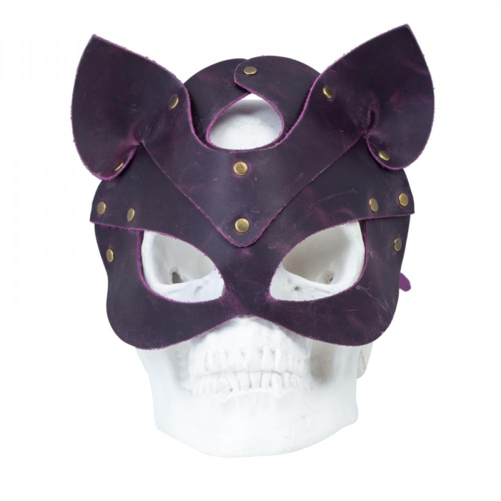 Маска для БДСМ - Маска кошки LOVECRAFT фиолетовая 2