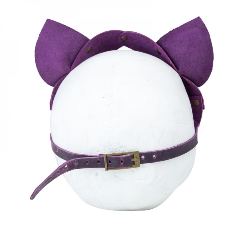 Маска для БДСМ - Маска кошки LOVECRAFT фиолетовая 3