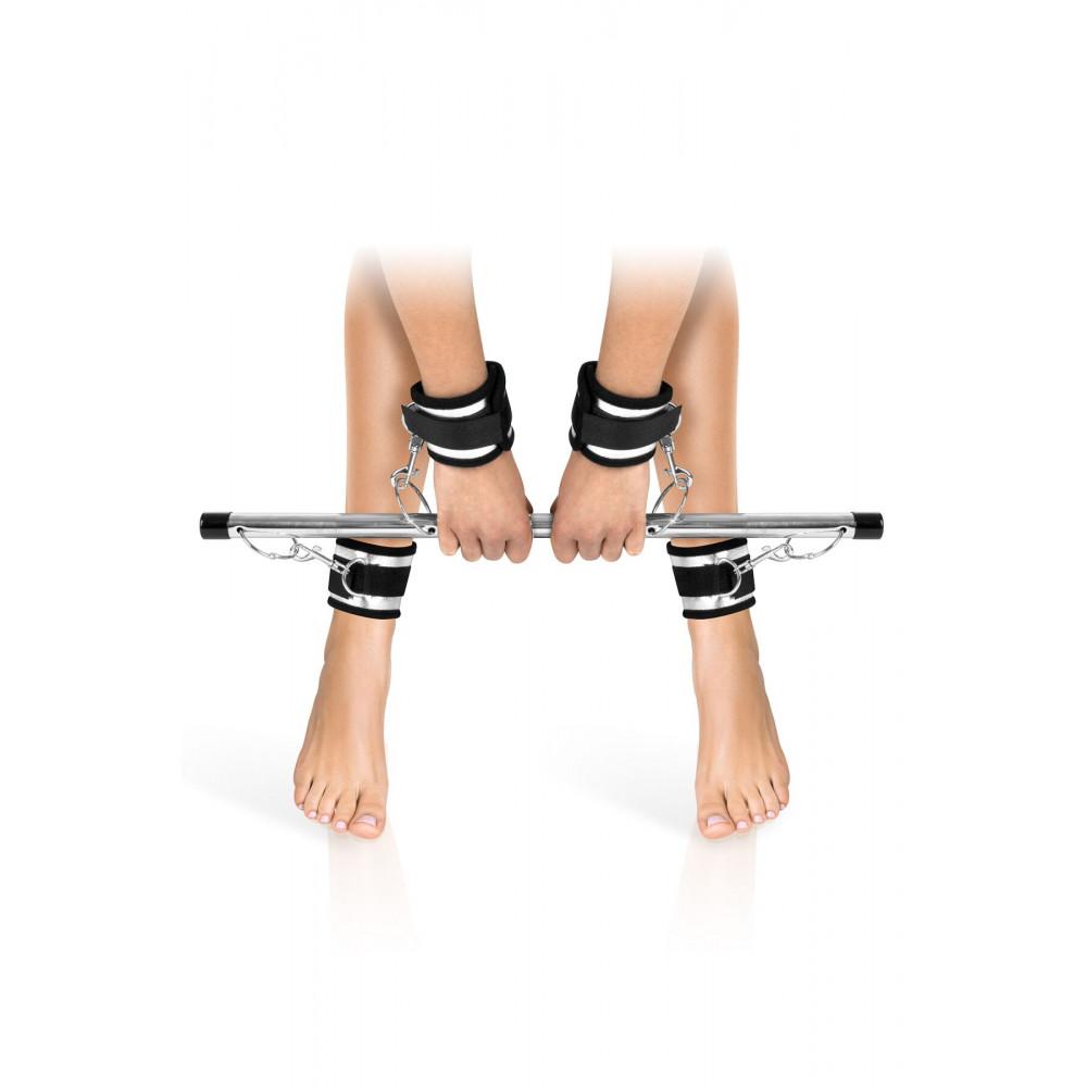БДСМ наручники - Фиксатор для рук и ног Fetish Tentation Submission bar with 4 cuffs