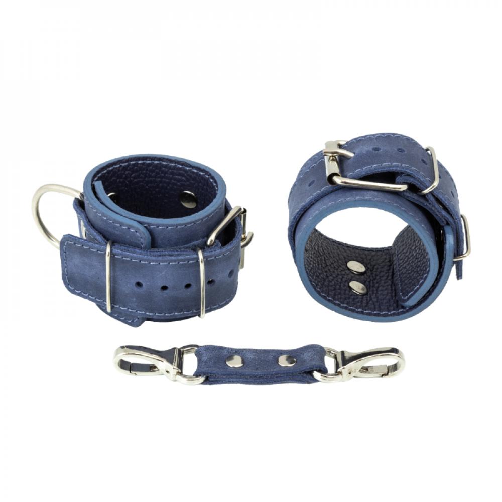 БДСМ наручники - Наручники LOVECRAFT голубые 1