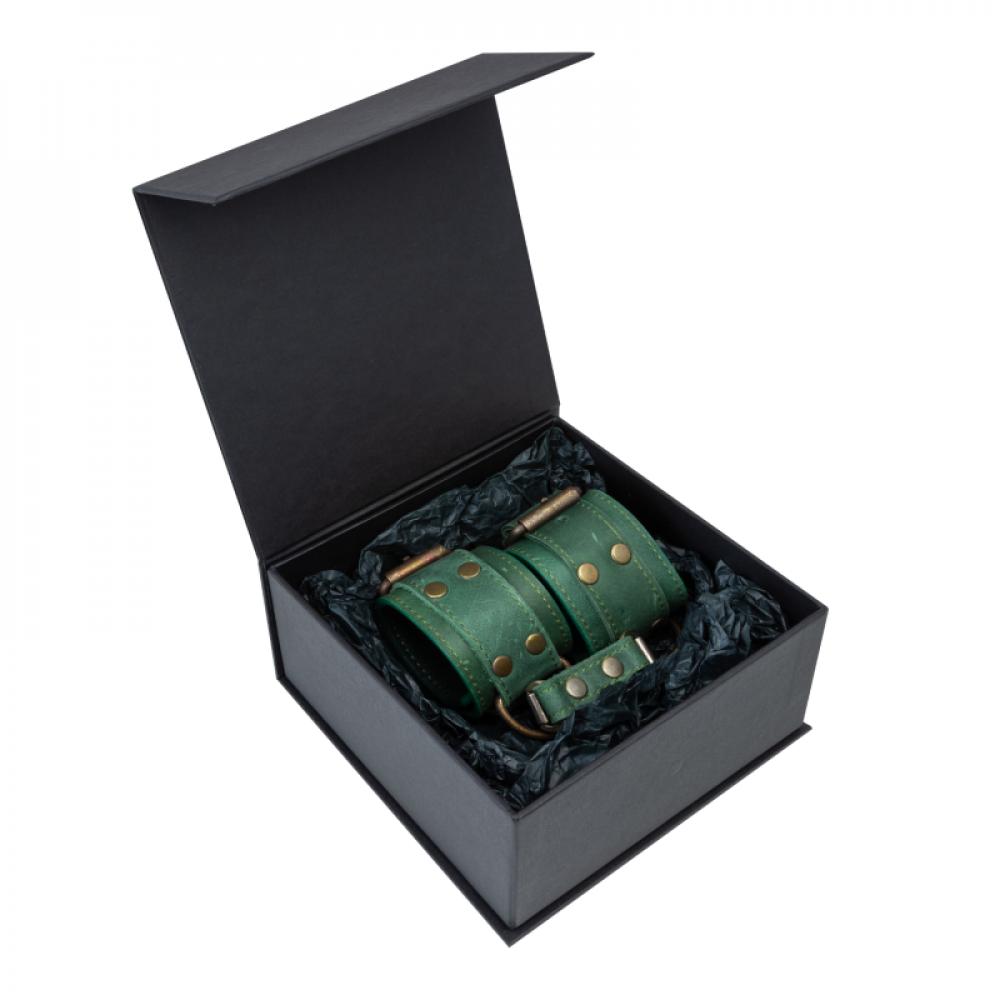 БДСМ наручники - Наручники LOVECRAFT зеленые 2
