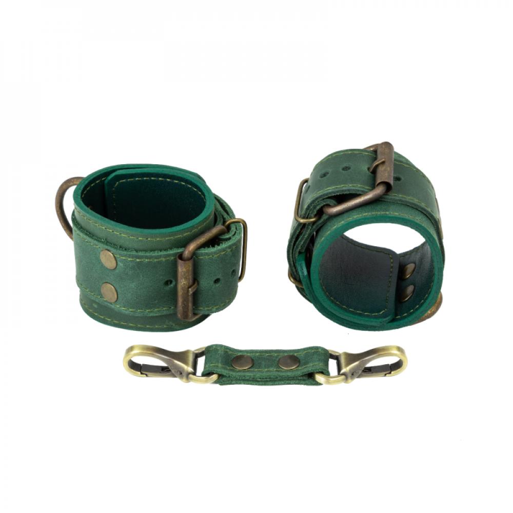 БДСМ наручники - Наручники LOVECRAFT зеленые 1