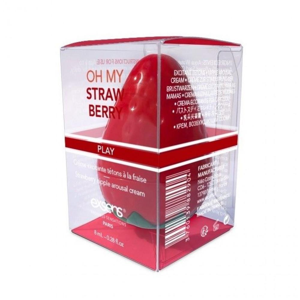 Стимулирующие средства и пролонгаторы - Возбуждающий крем для сосков EXSENS Oh My Strawberry 8 мл