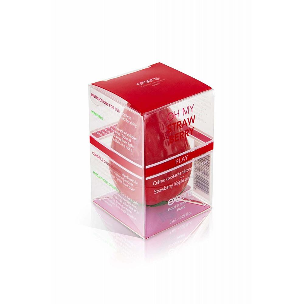 Стимулирующие средства и пролонгаторы - Возбуждающий крем для сосков EXSENS Oh My Strawberry 8 мл 3