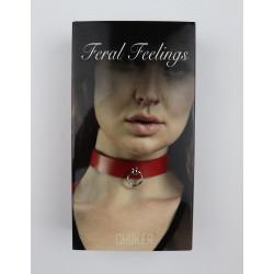 Чокер с колечком Feral Fillings - Choker красный