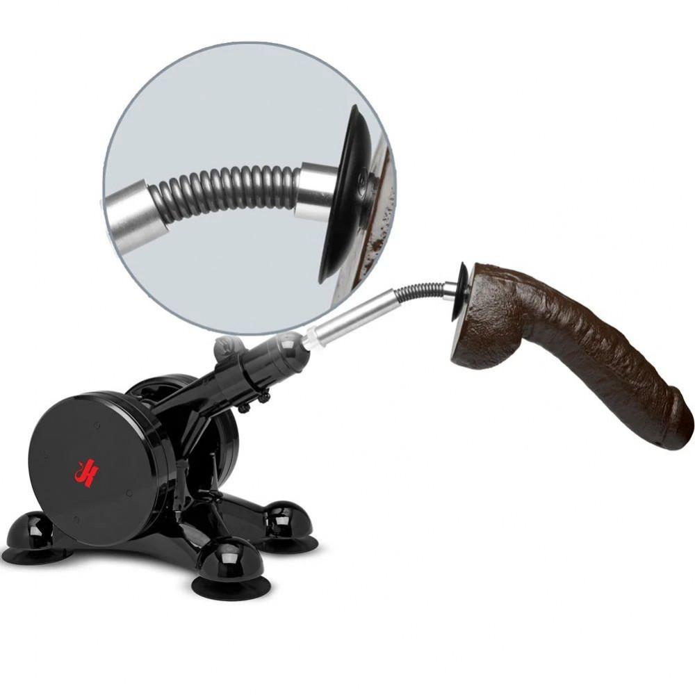 БДСМ аксессуары - Гибкий удлинитель-насадка для секс-машины Doc Johnson Kink - Power Banger Spring Flex Extender 1