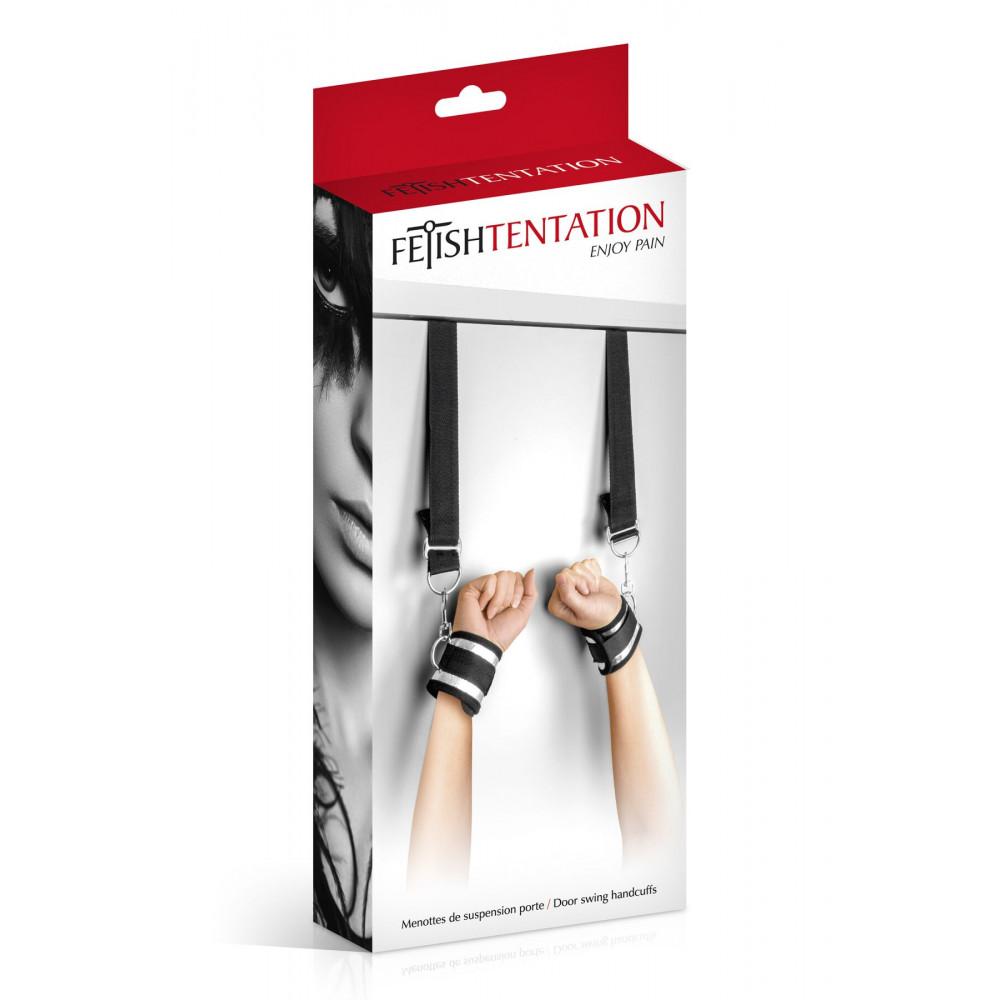 БДСМ наручники - Фиксатор для рук на двери Fetish Tentation Door swing handcuffs 2