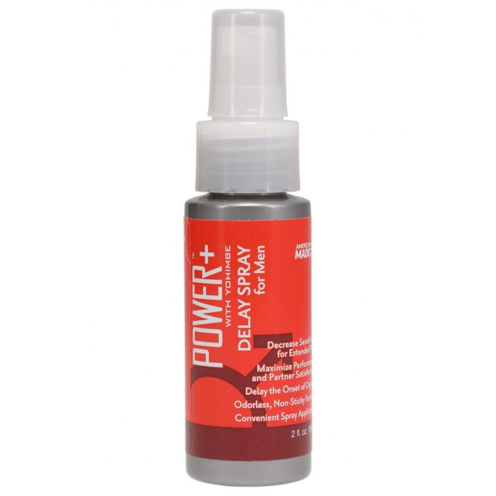 Стимулирующие средства и пролонгаторы - Мощный пролонгатор Doc Johnson Power+ with Yohimbe Delay Spray For Men (59 мл)