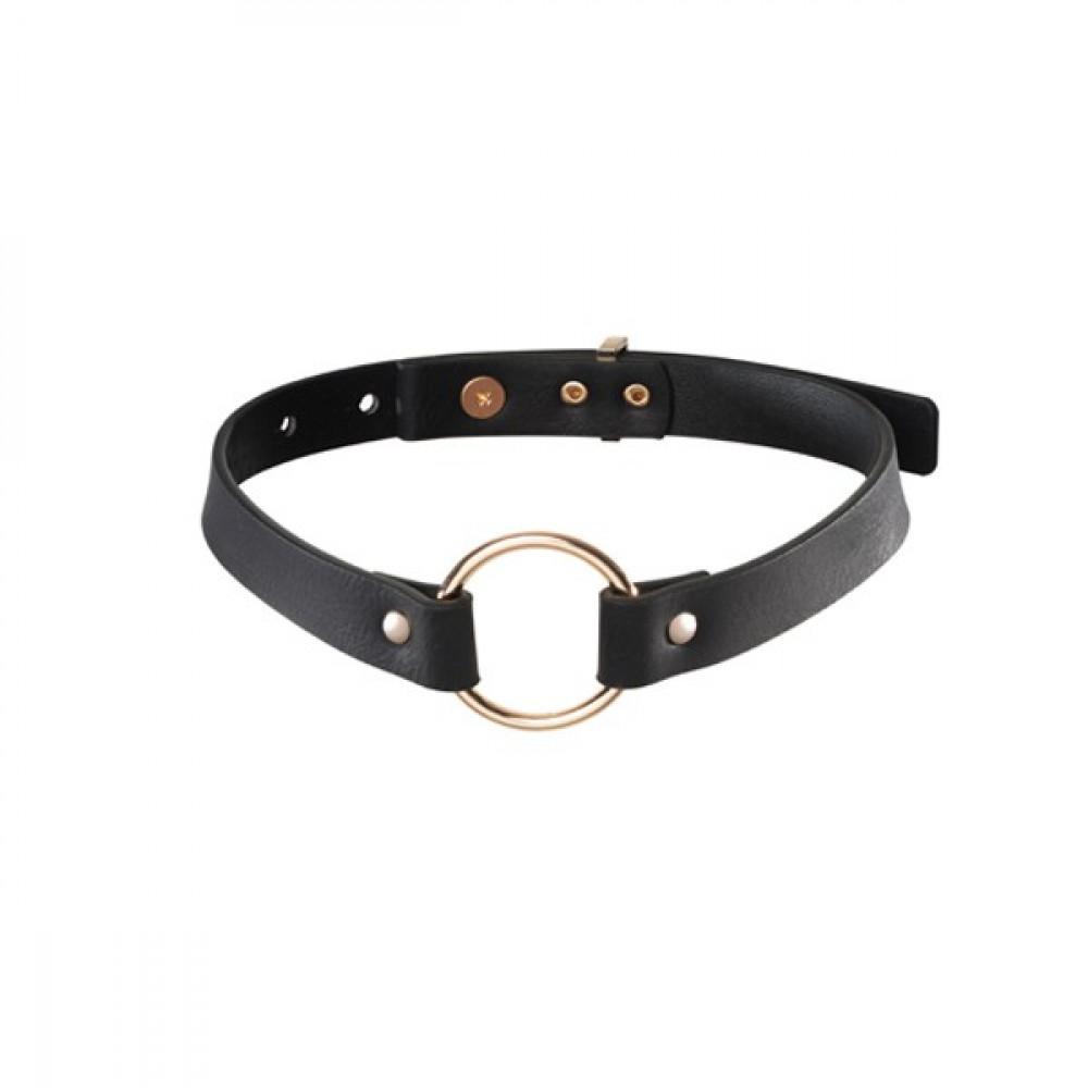Чокер - Чокер узкий с кольцом MAZE - чёрный