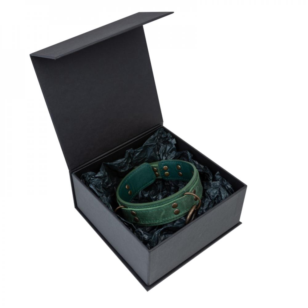БДСМ ошейники - Ошейник LOVECRAFT размер M зеленый 2