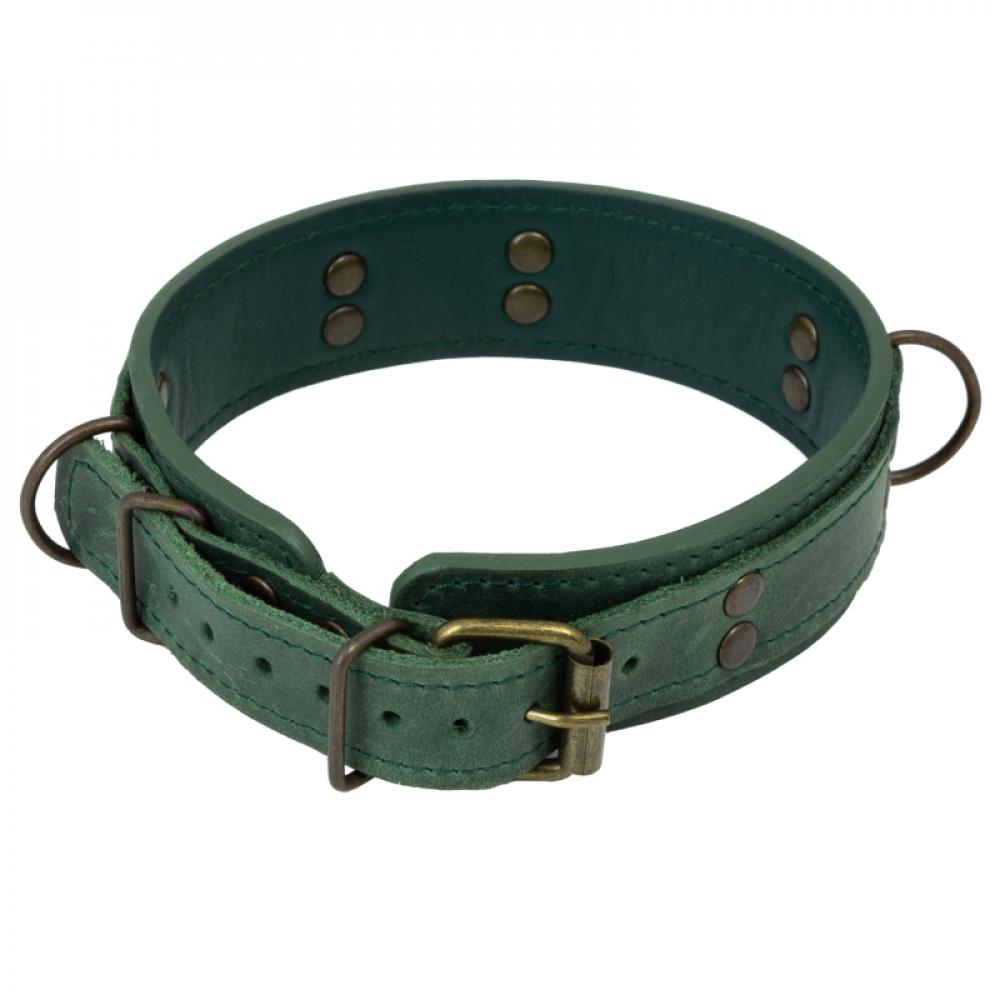 БДСМ ошейники - Ошейник LOVECRAFT размер M зеленый 1