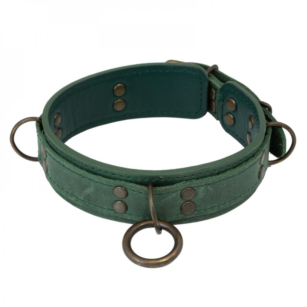 БДСМ ошейники - Ошейник LOVECRAFT размер M зеленый