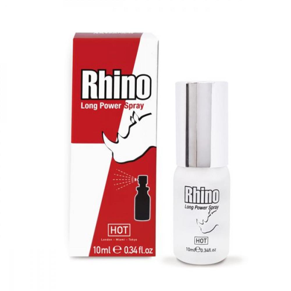 Мужские возбудители -  Спрей пролонгатор для мужчин HOT RHINO 10мл