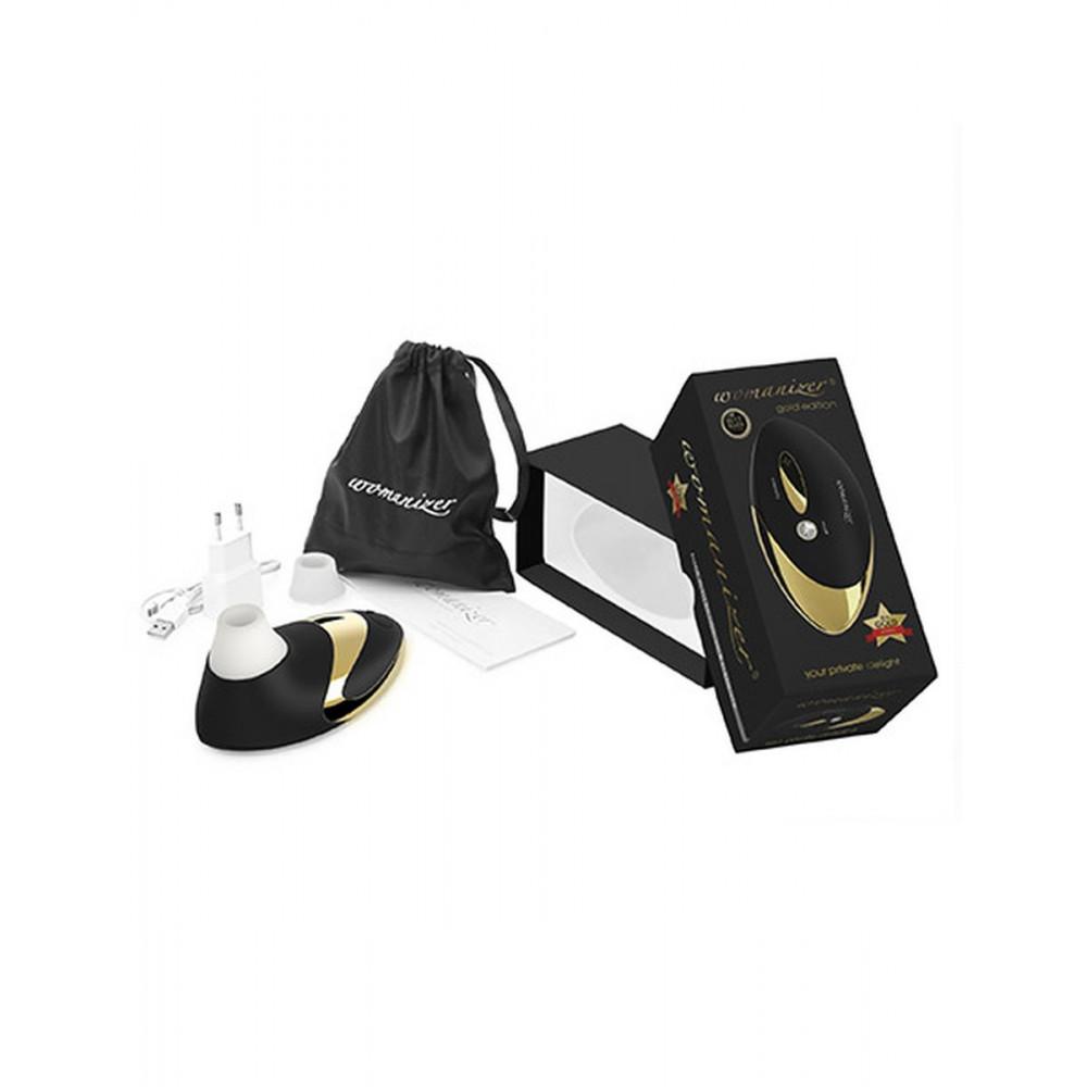 Клиторальный вибратор - Вакуумный клиторальный стимулятор Womanizer W500, золото 1