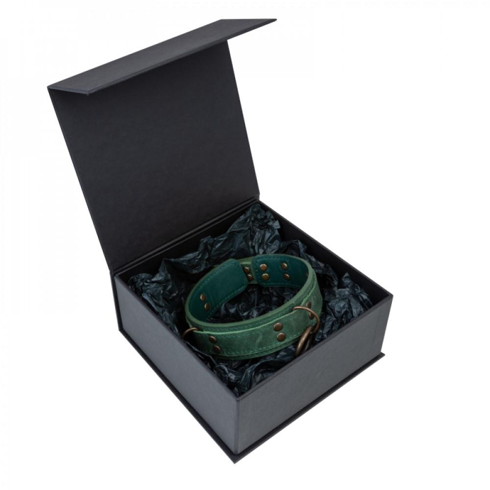 БДСМ ошейники - Ошейник LOVECRAFT размер S зеленый 2