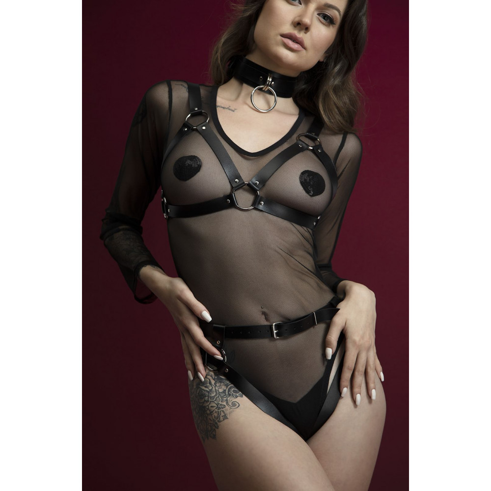 Одежда для БДСМ - Лиф Feral Fillings - Harness Bra черный