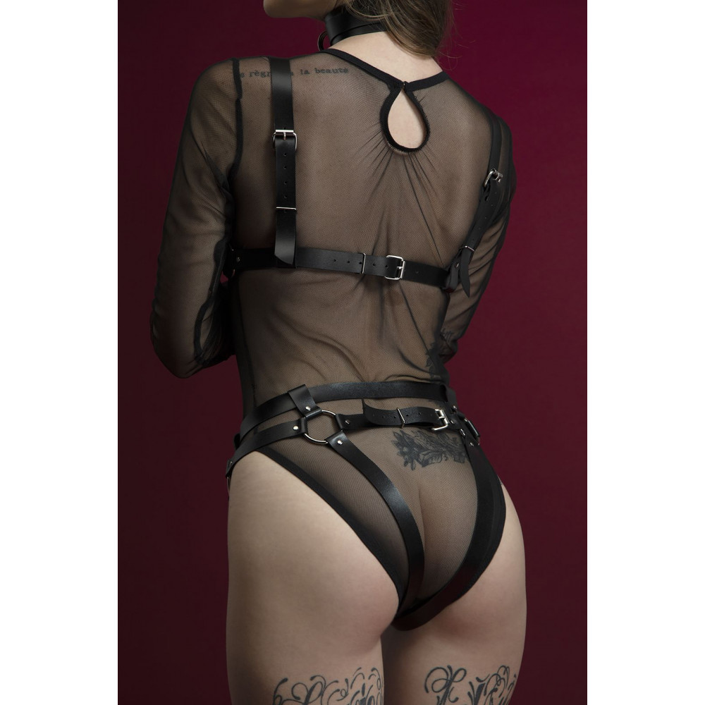 Одежда для БДСМ - Лиф Feral Fillings - Harness Bra черный 1