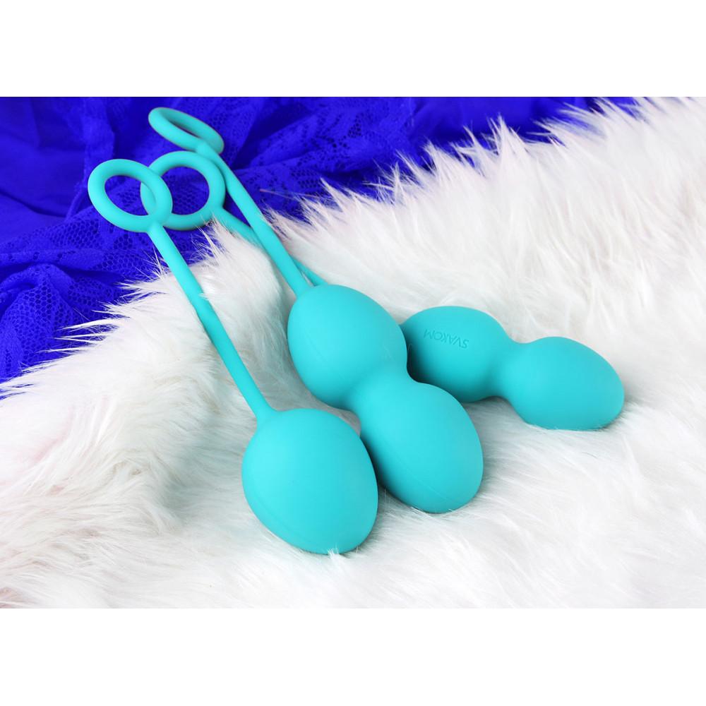 Вагинальные шарики - Вагинальные шарики Nova Ball SVAKOM, зеленые 8