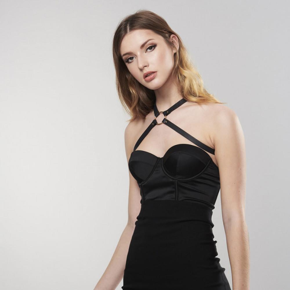 Одежда для БДСМ - Перекрещенная портупея MAZE от Bijoux Indiscrets чёрная