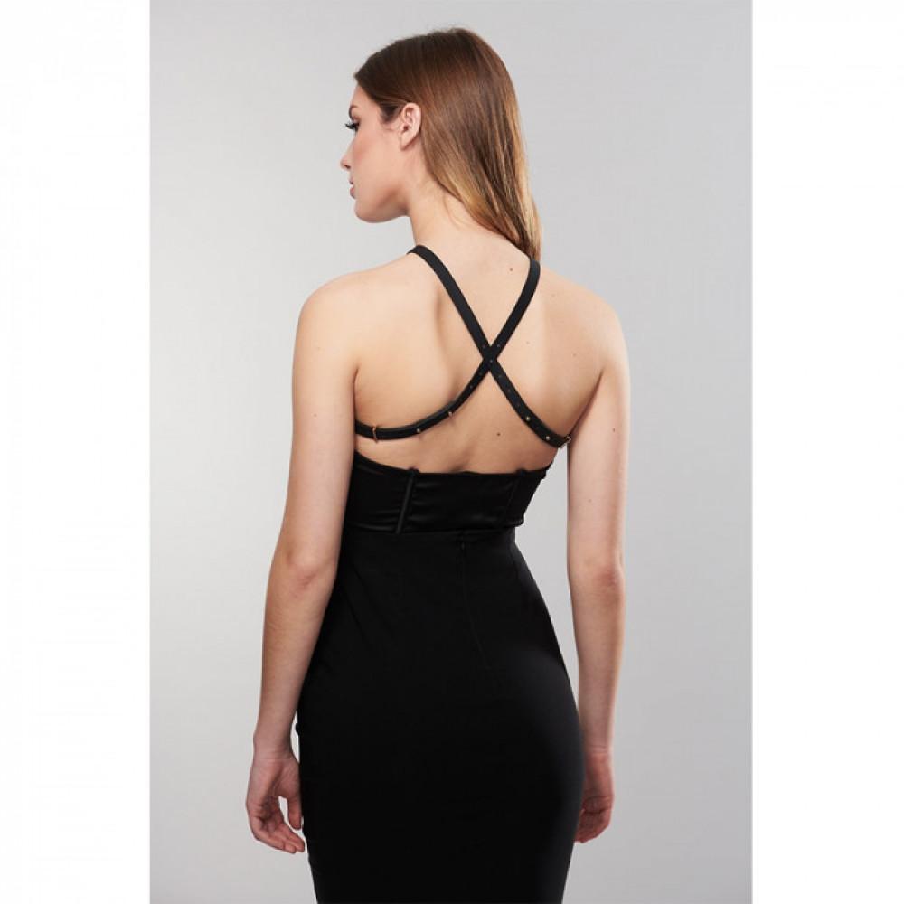 Одежда для БДСМ - Перекрещенная портупея MAZE от Bijoux Indiscrets чёрная 2