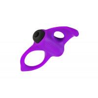 Эрекционное кольцо Adrien Lastic Lingus MAX Violet с вибрацией