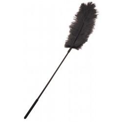 Щекоталка с пером страуса Sportsheets Ostrich Tickler Черная