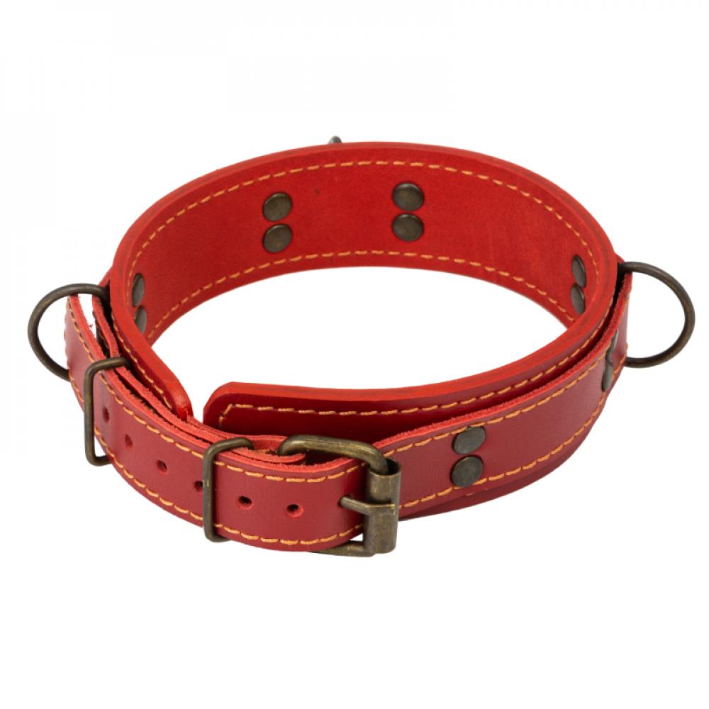 БДСМ ошейники - Ошейник LOVECRAFT размер M красный 1