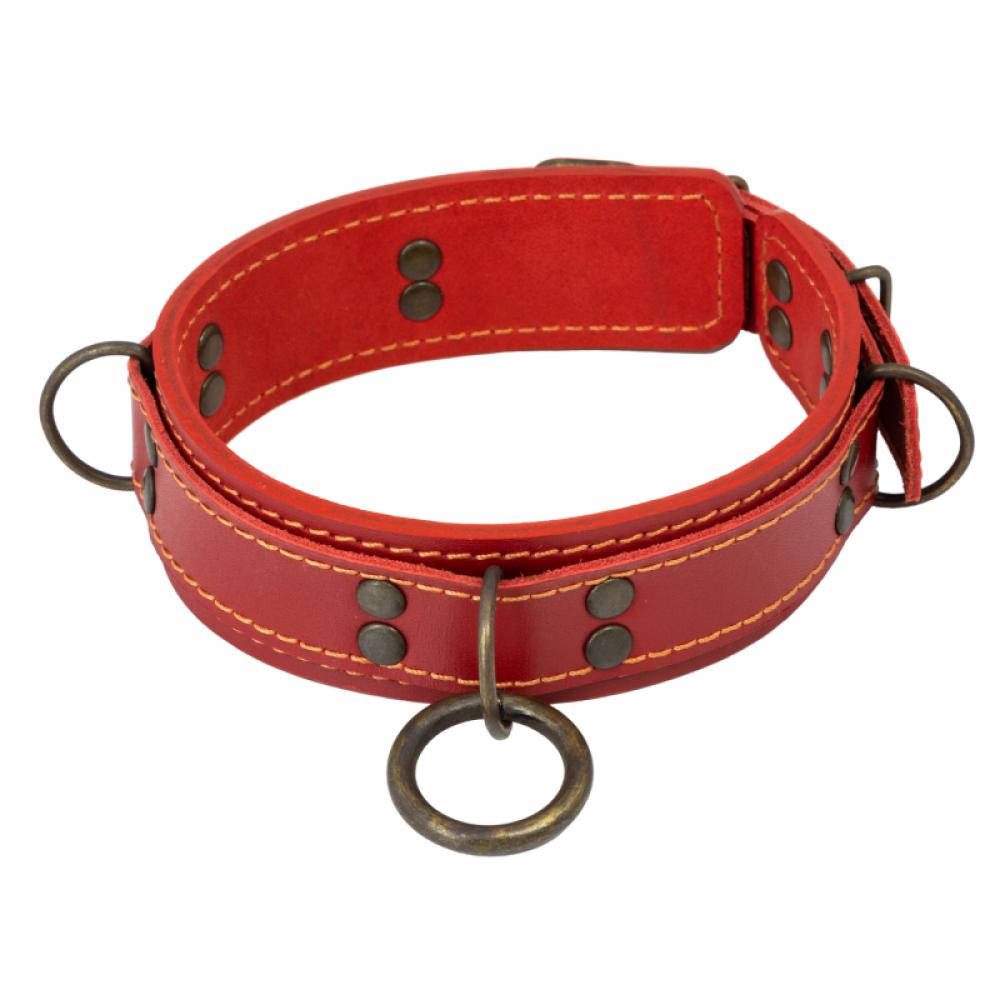 БДСМ ошейники - Ошейник LOVECRAFT размер M красный
