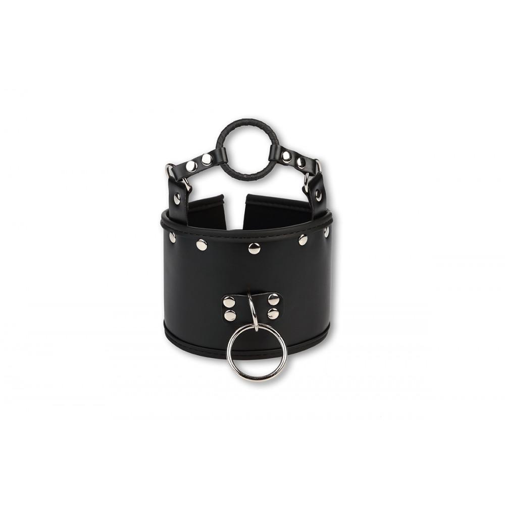 БДСМ ошейники - Ошейник c кляпом кольцом, черный