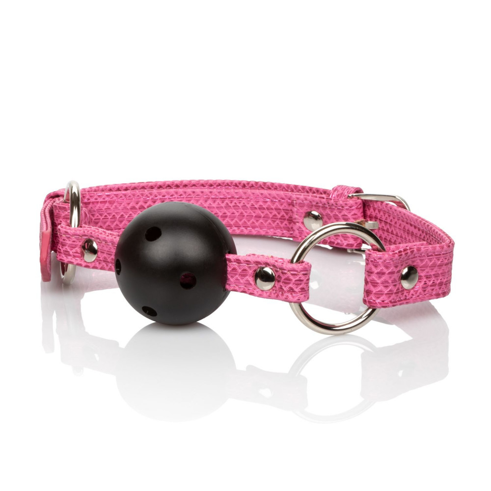 Кляп - CalExotics Tickle Me Pink Ball Gag - кляп с шариком