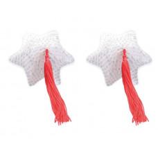 Наклейки на соски Пестис White Star Shape Sequin Pasties 8cm