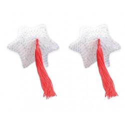 Пестис White Star Shape Sequin Pasties 8cm