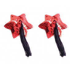 Пестис Red Star Shape Sequin Pasties 8cm