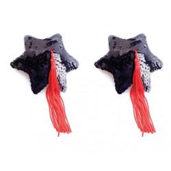Пестис Black Star Shape Sequin Pasties 8cm