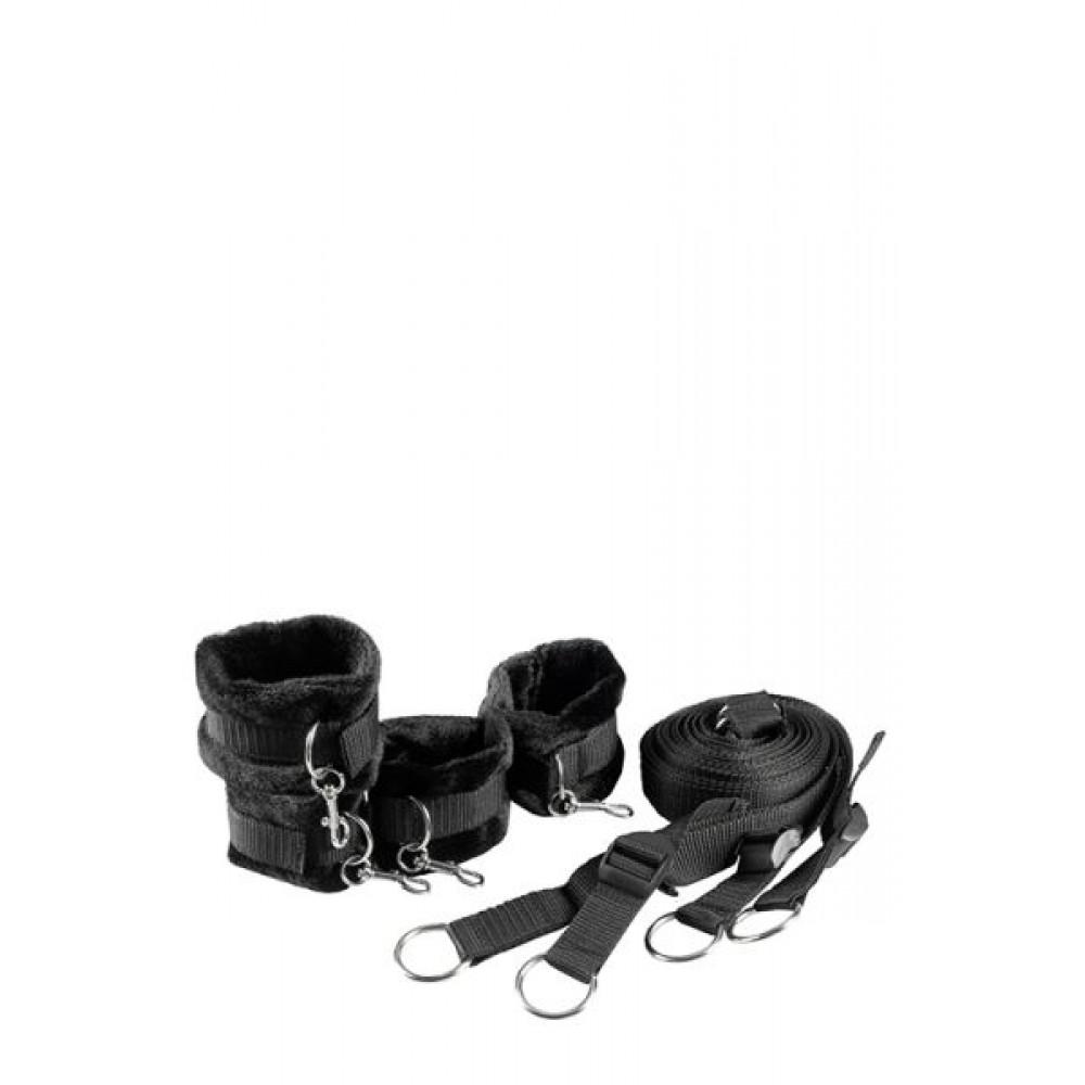 БДСМ наручники - Ременная система для фиксации к кровати BLAZE BED RESTRAINT SET 5