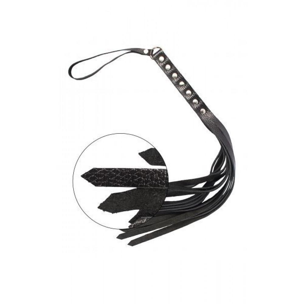 БДСМ плети, шлепалки, метелочки - Флогер S&M Fancy Leather Floger, BLACK 2