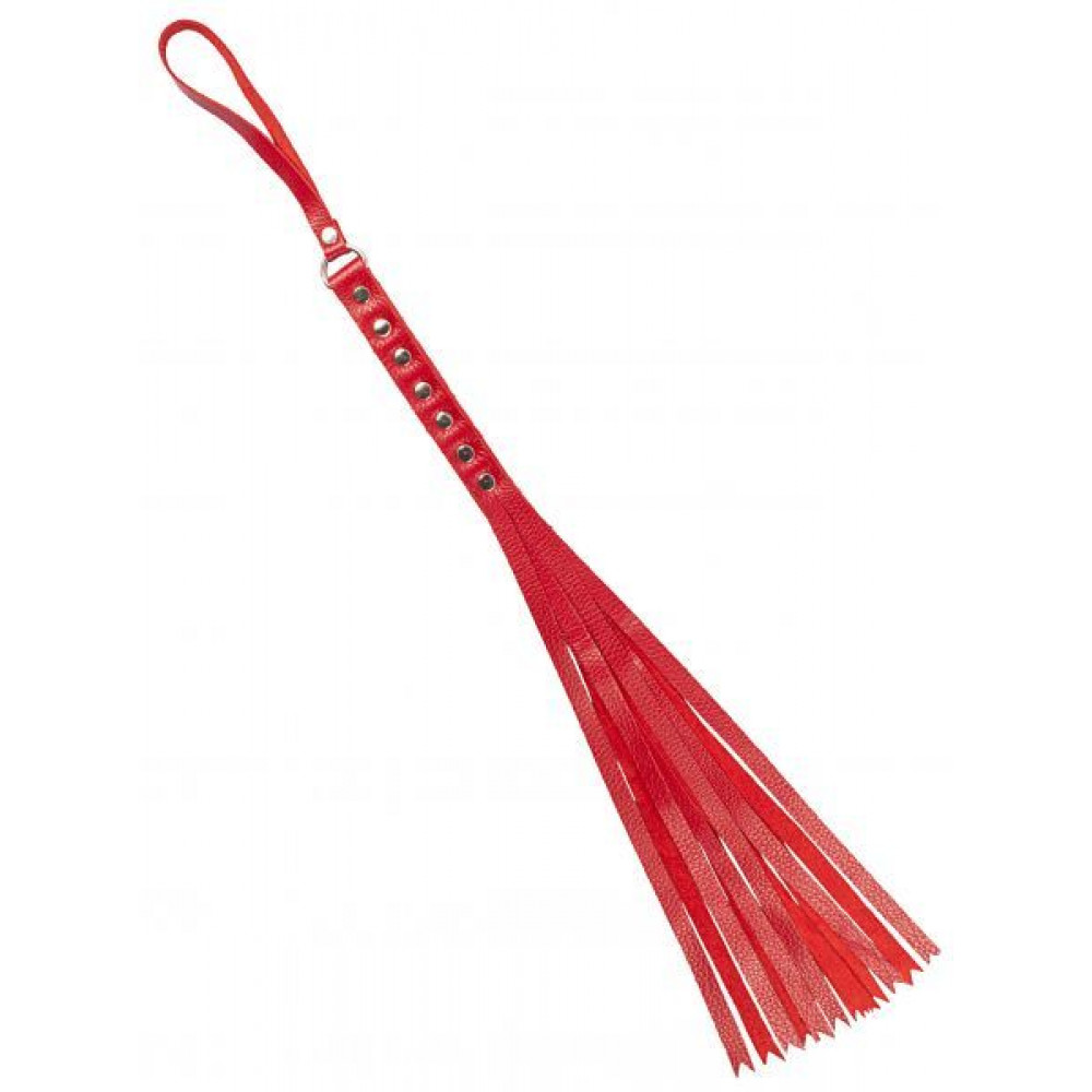 БДСМ плети, шлепалки, метелочки - Флогер S&M Fancy Leather Floger, RED 1